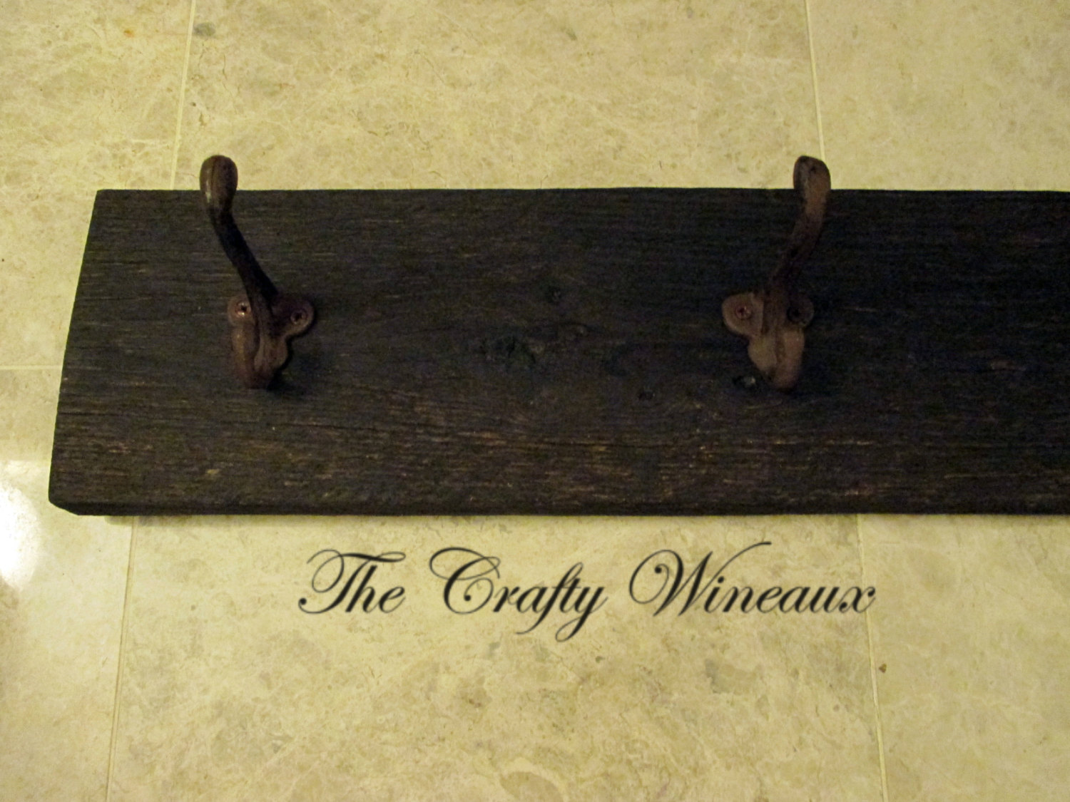 Reclaimed Barn Wood Coat Hanger with Six Wrought Iron Hooks - The ...