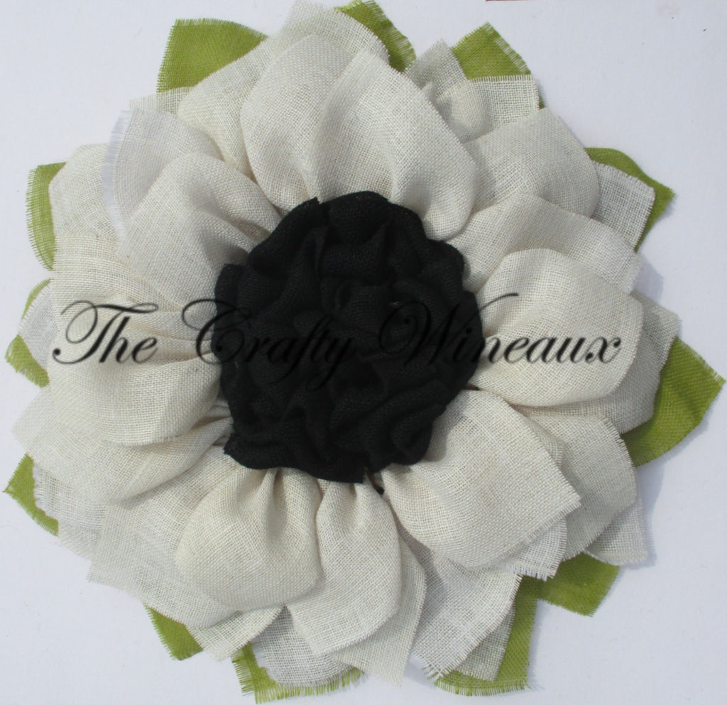 White Flower With Black Center Burlap Sunflower Wreath The Crafty
