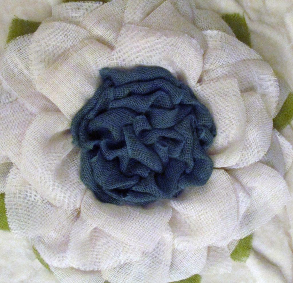 White flower with blue center burlap sunflower wreath the crafty white flower with blue center burlap sunflower wreath the crafty wineaux mightylinksfo