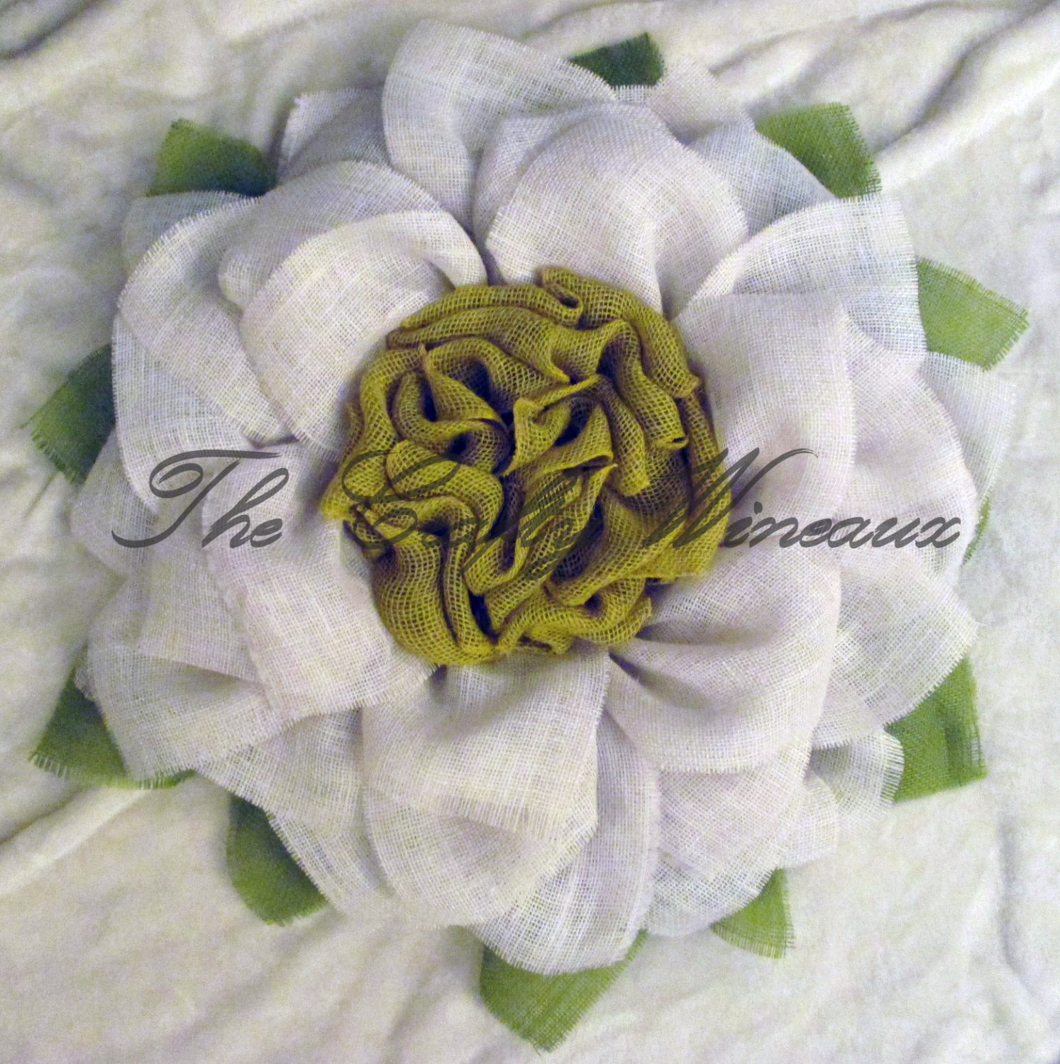 White Flower With Yellow Center Burlap Sunflower Wreath The Crafty