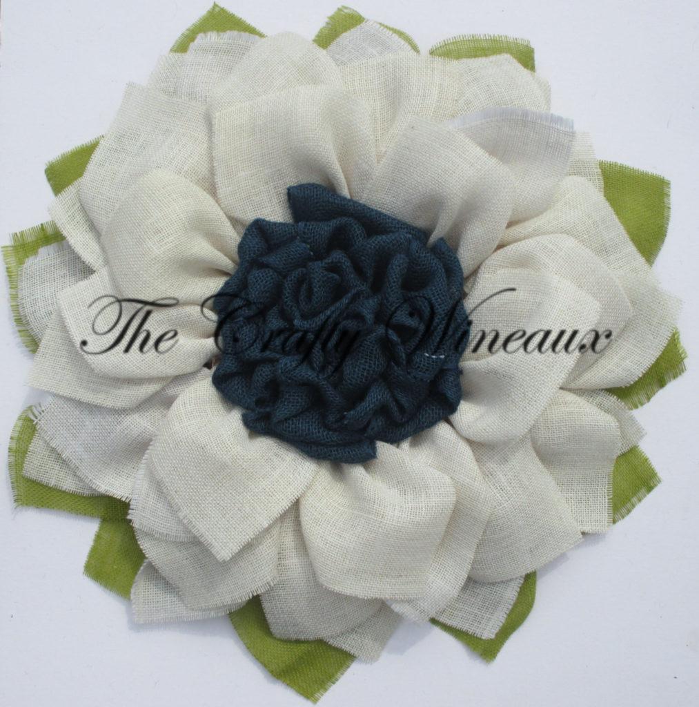 White flower with navy blue center burlap sunflower wreath the white flower with navy blue center burlap sunflower wreath the crafty wineaux izmirmasajfo