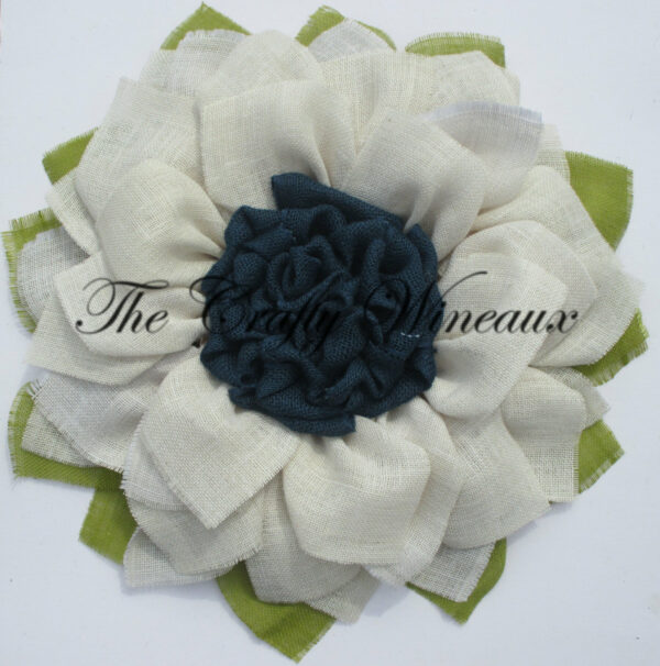 White flower with navy blue center burlap sunflower wreath the white flower with navy blue center burlap sunflower wreath mightylinksfo
