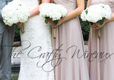 Twine Flower Holder Wedding Bouquet Holder Rustic Wedding Country Wedding Outdoor Wedding Flower Bouquet