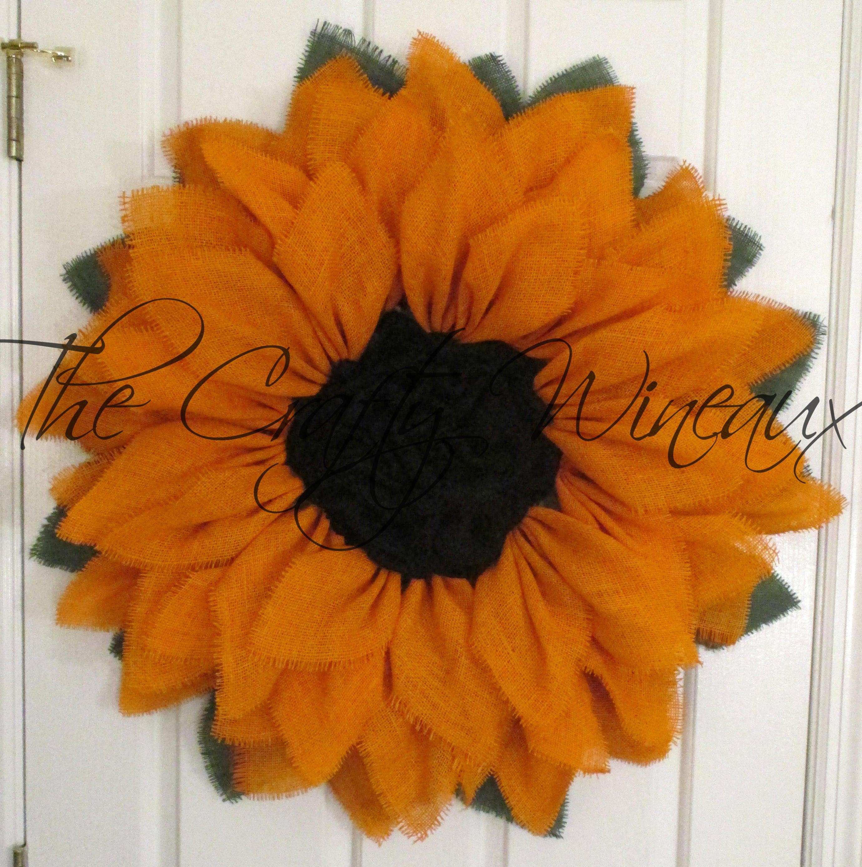 Burlap Wreath Free Shipping Spring Flower Wreath THE ORIGINAL Yellow Burlap Sunflower Wreath Sunflower Door Hanger Summer Sunflower