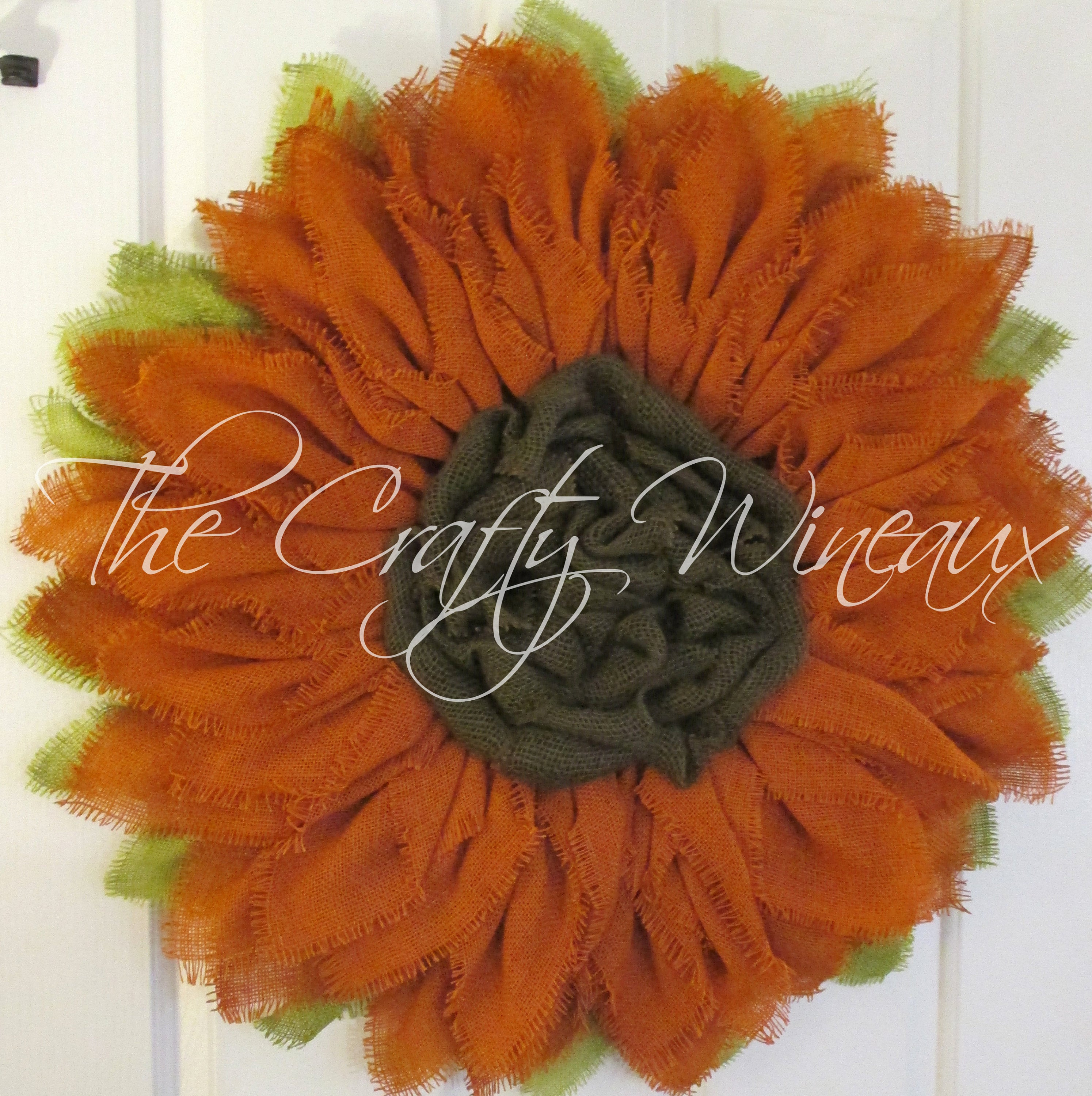 Extra Thick Burnt Sienna Burlap Sunflower Wreath
