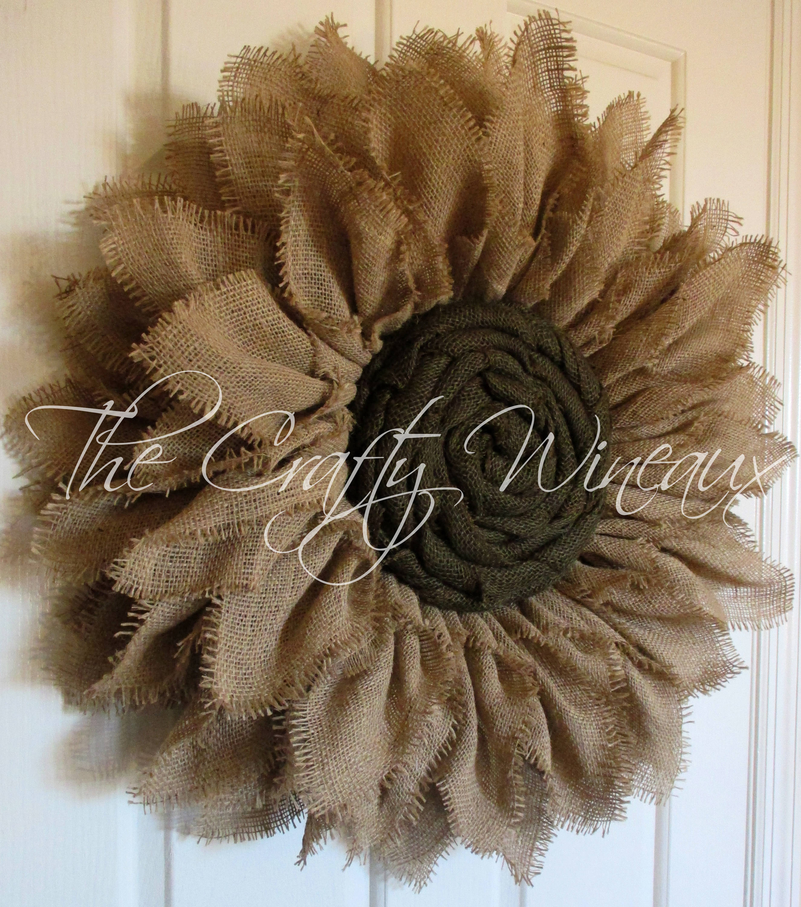 Free Shipping Extra Thick Natural Sand Burlap Sunflower