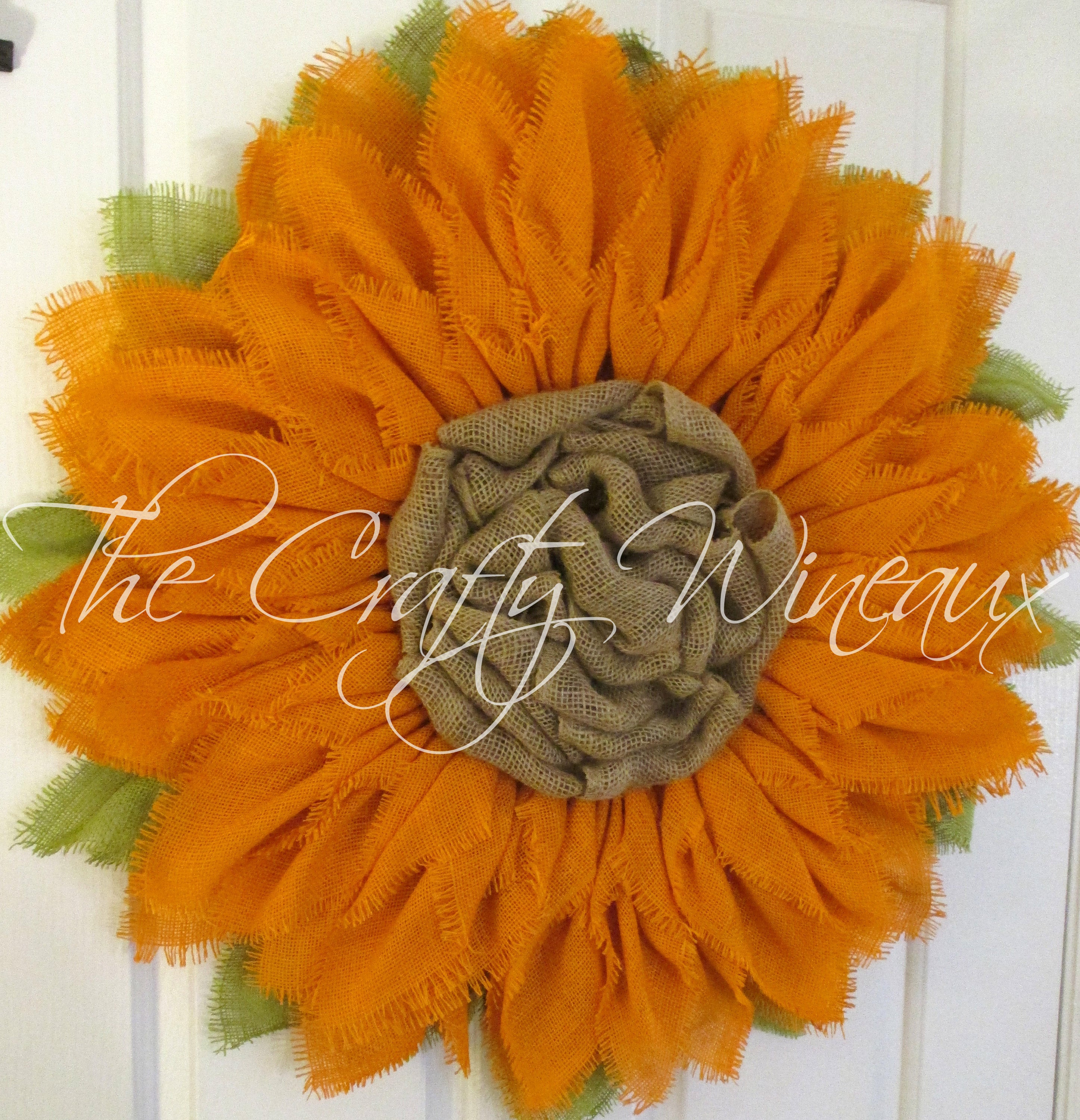 Free Shipping Extra Thick Orange Sunflower Wreath