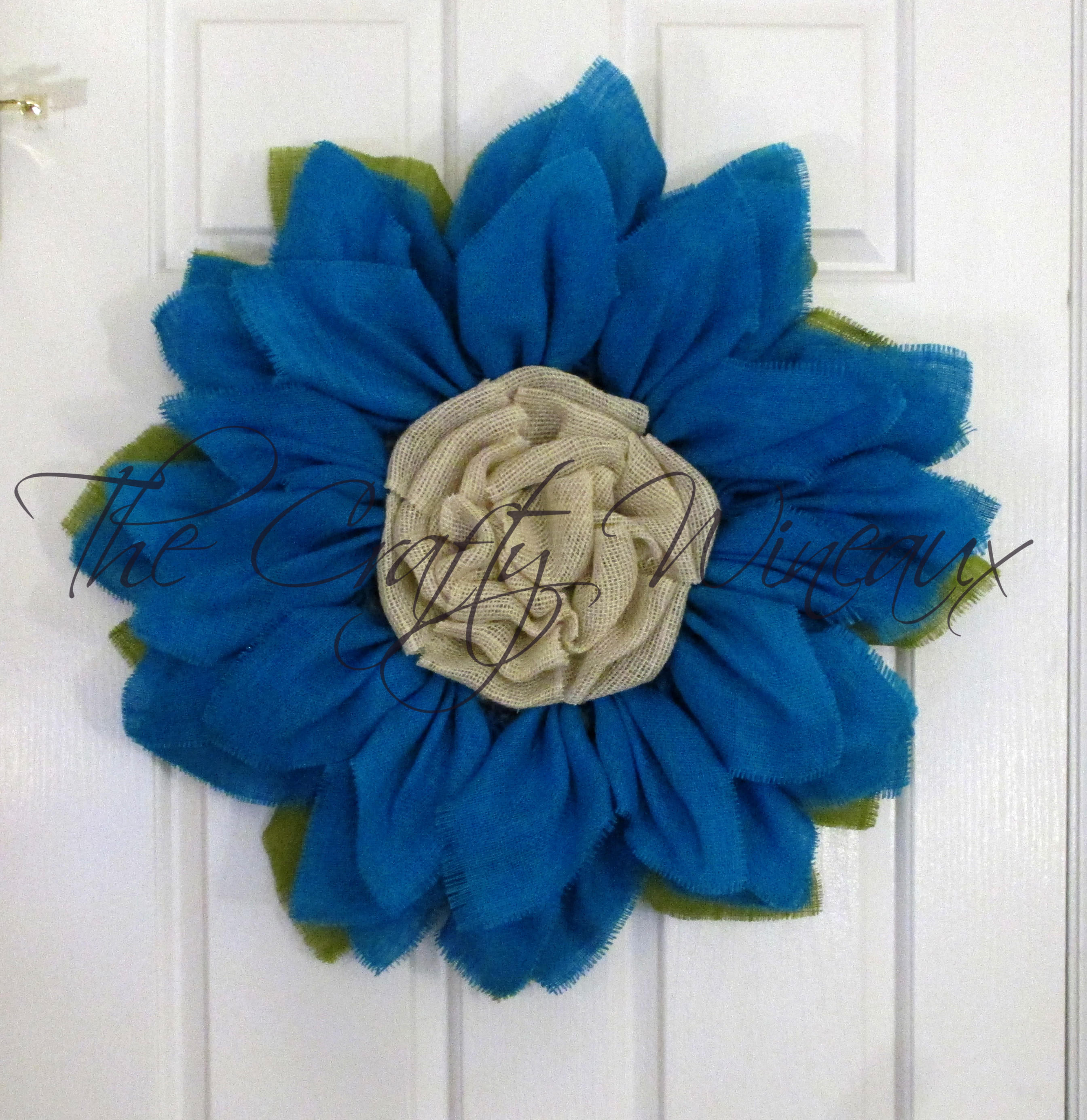 free shipping Custom Made Burlap Wreath
