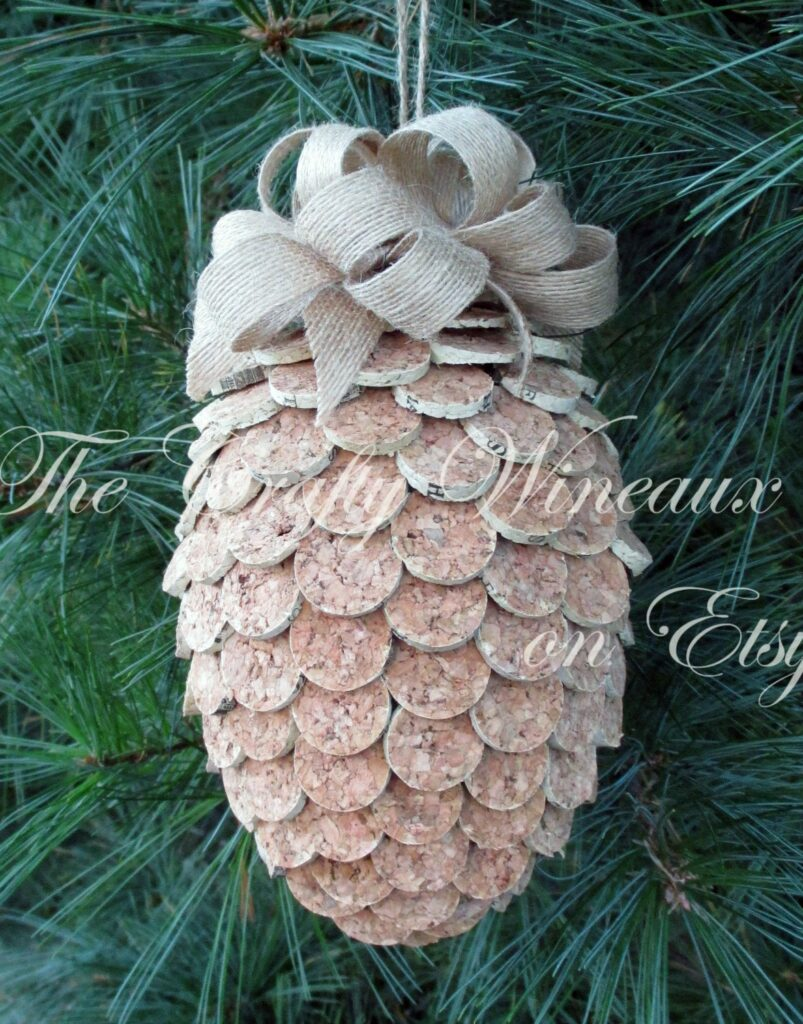 wine cork ornament tennessee gift wine gifts tennessee ornament hostess gift rustic christmas ornament gift for wine lover